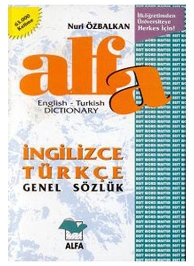 Alfa Alfa İngilizce - Türkçe Genel Sözlük Renkli